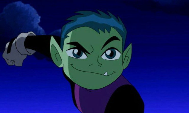 Beast Boy in the animated series