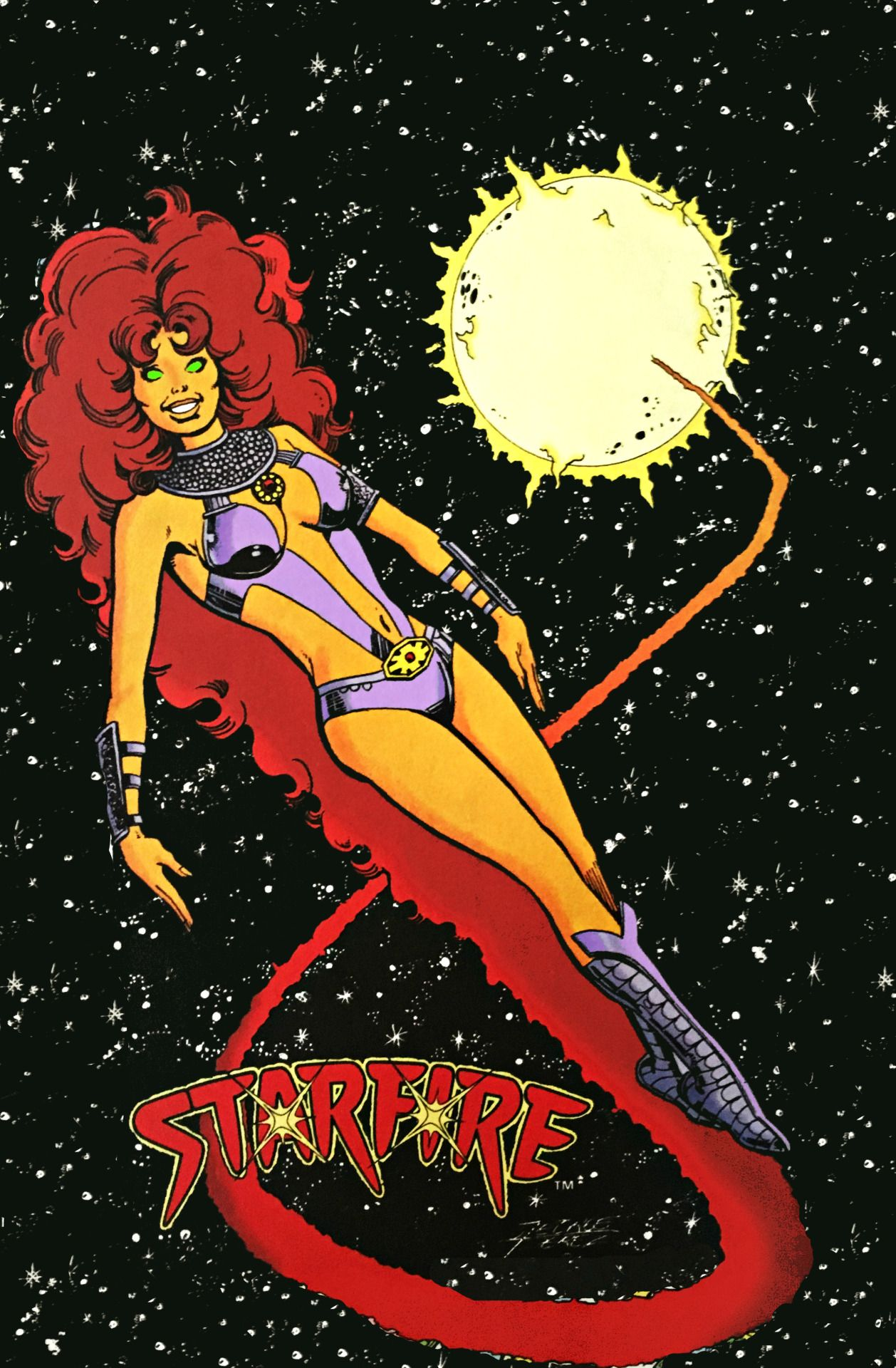 Starfire in the comic